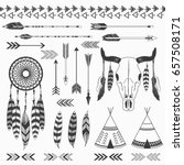 tribal indian collections | Shutterstock .eps vector #657508171