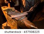 forge  anvil  knife making.