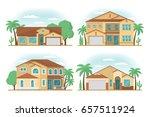 set of frontview of usa arizona ... | Shutterstock .eps vector #657511924