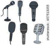 vector set of microphone | Shutterstock .eps vector #657513355