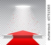white blank podium with red... | Shutterstock .eps vector #657515305