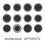 stamps and stickers icons set.... | Shutterstock .eps vector #657529171