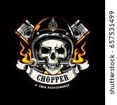 skull of biker in t shirt style ... | Shutterstock .eps vector #657531499