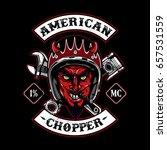 the devil of biker in t shirt... | Shutterstock .eps vector #657531559