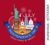 4th of july independence day... | Shutterstock .eps vector #657533365