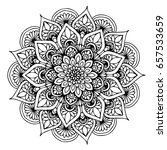 mandalas for coloring book.... | Shutterstock .eps vector #657533659