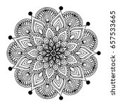 mandalas for coloring book.... | Shutterstock .eps vector #657533665