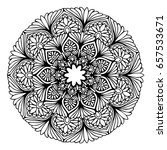 mandalas for coloring book.... | Shutterstock .eps vector #657533671