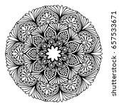 mandalas for coloring book.... | Shutterstock .eps vector #657533671