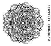 mandalas for coloring book.... | Shutterstock .eps vector #657533689
