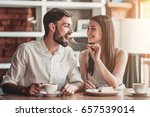 beautiful couple in love is... | Shutterstock . vector #657539014