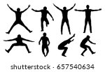 black vector silhouettes of... | Shutterstock .eps vector #657540634