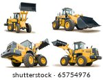 Set Of Loaders Excavators...