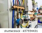 water pipe plumbing threaded...   Shutterstock . vector #657554431