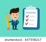 happy smiling businessman with... | Shutterstock .eps vector #657558217