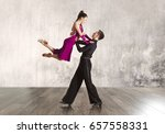 beautiful couple in the active... | Shutterstock . vector #657558331
