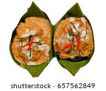 steamed fish with curry paste ... | Shutterstock . vector #657562849