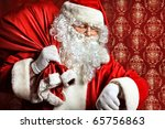 Portrait Of Santa Claus With A...