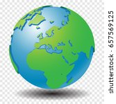 globe with world map  show... | Shutterstock .eps vector #657569125