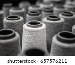 white yarn spools  bobbins ... | Shutterstock . vector #657576211