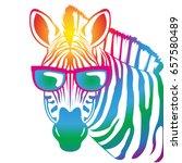 cool zebra | Shutterstock .eps vector #657580489