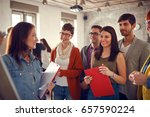 creative business young people... | Shutterstock . vector #657590224