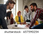 architects teamwork  young... | Shutterstock . vector #657590254
