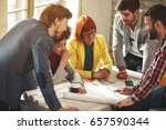 architects working together  ... | Shutterstock . vector #657590344