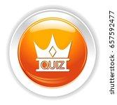 quiz crown icon | Shutterstock .eps vector #657592477