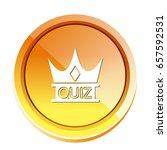 quiz crown icon   Shutterstock .eps vector #657592531
