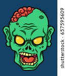cartoon zombie head | Shutterstock .eps vector #657595609