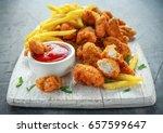 Fried Crispy Chicken Nuggets...