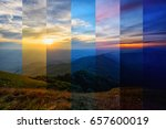 different shade color of... | Shutterstock . vector #657600019