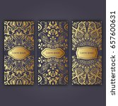 set of luxury flyer pages set...   Shutterstock .eps vector #657600631