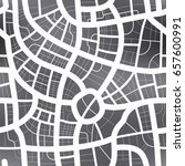 black and white map of city ... | Shutterstock .eps vector #657600991