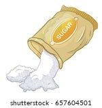 sugar pour out a bag | Shutterstock .eps vector #657604501