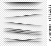 transparent paper with... | Shutterstock .eps vector #657612181