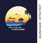 honolulu hawaii surf typography ... | Shutterstock .eps vector #657617227