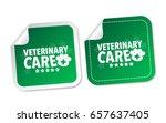 veterinary care stickers | Shutterstock .eps vector #657637405