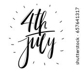4 july america celebration.... | Shutterstock .eps vector #657641317