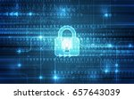 abstract technology security on ... | Shutterstock .eps vector #657643039