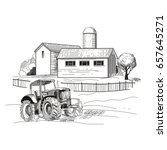 Image Of The Farm  Houses And ...