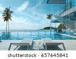 beautiful view of swimming pool ... | Shutterstock . vector #657645841