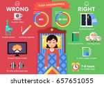 sleep infographic  10 steps for ... | Shutterstock .eps vector #657651055
