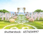 wedding set up | Shutterstock . vector #657654997