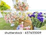 wedding set up   Shutterstock . vector #657655009