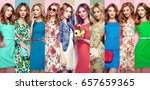 fashion collage. group of... | Shutterstock . vector #657659365