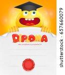diploma template certificate... | Shutterstock .eps vector #657660079