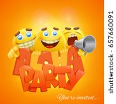 aloha party banner template... | Shutterstock .eps vector #657660091