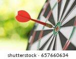 darts in center of the target... | Shutterstock . vector #657660634